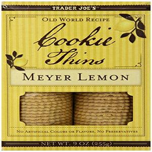 トレーダージョーズマイヤーレモンクッキーシン(2パック) Trader Joe's Meyer Lemon Cookie Thins (Pack Of 2)