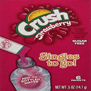 シングルズ・トゥ・ゴー!イチゴ、シュガーフリー、6パケット/箱6箱 Crush Singles to Go! Strawberry, Sugar Free, 6 packets/box 6 boxes