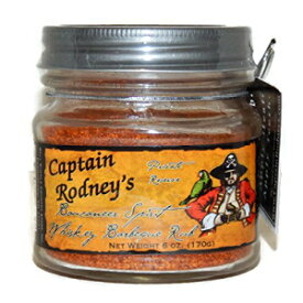 キャプテンロドニーのプライベートリザーブブーカニアラブ、スピリットウイスキーバーベキュー、6.0オンス Captain Rodney's Private Reserve Boucaneer Rub, Spirit Whiskey Barbeque, 6.0 Ounce