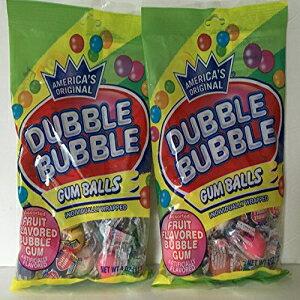 ダブルバブル個別包装ラップフルーツ風味のガムボール4オンスバッグ(2パック-合計8オンス) Dubble Bubble Individually Wrapped Assorted Fruit Flavored Gum Balls 4 Oz Bag (2 Pack - 8 Ounces Total)