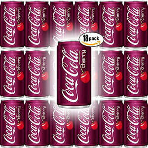 コカ・コーラチェリー、7.5 Fl Ozミニ缶(18パック、合計135 Fl Oz) Coca-Cola Cherry, 7.5 Fl Oz Mini Can (Pack of 18, Total of 135 Fl Oz)