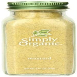 単にオーガニックマスタードシードグラウンド認証オーガニック、3.07オンスコンテナー Simply Organic Mustard Seed Ground Certified Organic, 3.07-Ounce Container