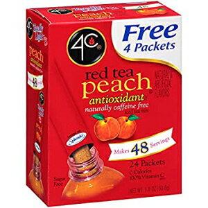4Cレッドピーチアイスティースティック24個 (3個パック) 4C Red Tea Peach Iced Tea Stix 24 pk. (Pack of 3)