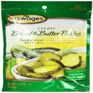 ミセス・ウェイジズ・ブレッド・アンド・バター・ピクルス・ミックス、5.30オンス・パケット、6個入りパック Mrs. Wages Bread n Butter Pickle Mix, 5.30-Ounce Packets, (Pack of 6)