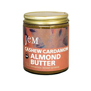 JEMオーガニックカシューカルダモンスプレッド、6オンス Jem Enterprises JEM Organic Cashew Cardamom Spread, 6 OZ