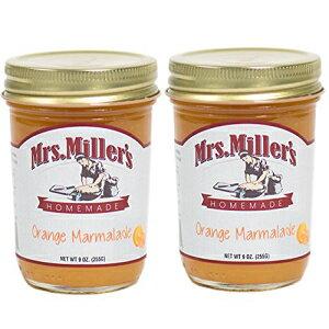 ミラー夫人のアーミッシュ製オレンジマーマレード9オンス-2パック Mrs. Miller's Mrs Miller's Amish Made Orange Marmalade 9 Ounces - 2 Pack