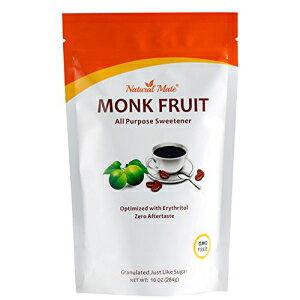 万能粒状モンクフルーツ甘味料(エリスリトール入り)、10オンス/パック、2x砂糖甘味(パック1) Natural Mate All Purpose Granular Monkfruit Sweetener (with Erythritol), 10oz/Pack, 2x Sugar Sweetness (Pack 1)