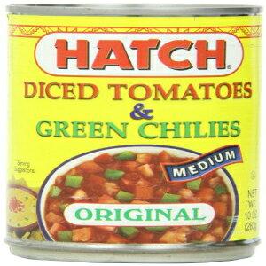 緑の唐辛子でさいの目に切ったハッチトマト、ミディアム、10オンス(12パック) Hatch Chile Company Hatch Tomatoes Diced with Green Chilies, Medium, 10-Ounce (Pack of 12)
