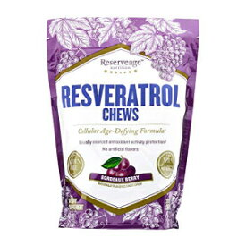 Reserveage Nutrition Reserveage, Resveratrol Chews, Anti Wrinkle Support to Protect Against the Aging Effects of Free Radicals for Youthful, Smooth Skin with Organic Red Grape and Acai, Bordeaux Berry, 30 Chews