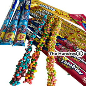 #1 Nerds Rope Candy (Massive 9 Pack, 3 Flavors) 3x Tropical, 3x Rainbow and 3x Berry By THE HUNDRED8