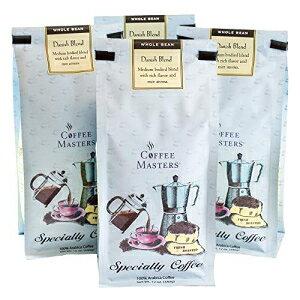 コーヒーマスターズグルメコーヒー、デニッシュブレンド、ホールビーン、12オンスバッグ(4パック) Coffee Masters Gourmet Coffee, Danish Blend, Whole Bean, 12-Ounce Bags (Pack of 4)