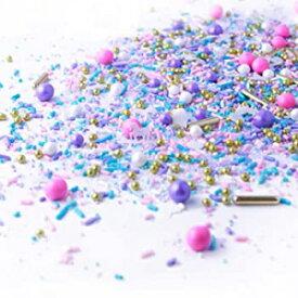 2.0オンス、ユニコーンスプリンクルミックス| パステル| ピンクパープルとブルー| | シルバー| ゴールド| ホワイトユニコーンレディーススプリンクル、2OZ(サンプルサイズ) Visit the SPRINKLE POP Store 2.0 ounces, Unicorn Sprinkles Mix| Pas