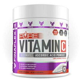 FINAFLEX Pure Vitamin C Unflavored Powder Ultimate Ascorbic Acid Powder (150 Gram, UNFLAVORED)