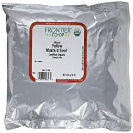 Frontier Co-opオーガニックイエローマスタードシード、ホール、1ポンドバルクバッグ(パック2) Visit the Frontier Store Mustard seed yellow whole org (Pack of 2)