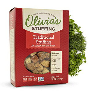 Olivia's Croutons - Traditional Stuffing (2 pack)- Vegan Stuffing - Natural Stuffing - Gluten-Free Stuffing Mix - Crouton Bread Cubes - Vegetarian Stuffing Mix - Stuffing 12 oz