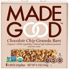 MadeGoodヘルシーグラノーラバー、チョコレートチップ、グルテンフリービーガン、6バー Visit the Made Good Store MadeGood Granola Bars, Chocolate Chip, .85oz 6 count, 5.1oz
