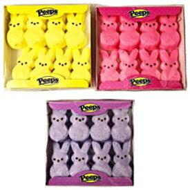 マシュマロの覗き見ピンク、紫、黄色のイースターバニー8 ct(3個パック) Visit the Peeps Store Marshmallow Peeps Pink, Purple, and Yellow Easter Bunnies 8 ct (Pack of 3)