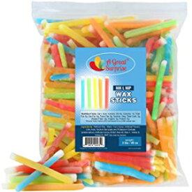 A Great Surprise Nik L Nip Wax Sticks - Bulk Candy - Candy Drinks - 3 Pounds