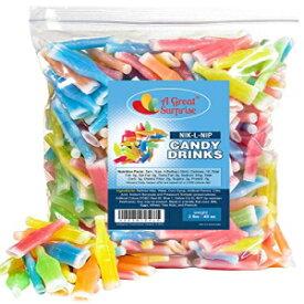 Nik-L-Nip Wax Bottles Candy Drinks、3 LB Bulk Candy A Great Surprise Nik-L-Nip Wax Bottles Candy Drinks, 3 LB Bulk Candy