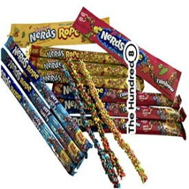 Massive 6 Pack Nerds Rope Candy 2x Tropical, 2x Rainbow and 2x Very Berry By THE HUNDRED8