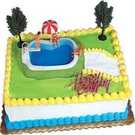 ケーキデコレーションキットカップケーキデコレーションキットスポーツ玩具(プールパーティー) A1 Bakery Supplies Cake Decorating Kit CupCake Decorating Kit Sports Toys (Swimming Pool Party)