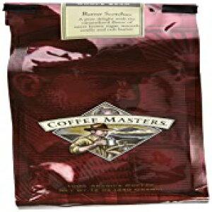 コーヒーマスターフレーバーコーヒー、バタースコッチ、ホールビーン、12オンスバッグ(4パック) Coffee Masters Flavored Coffee, Butter Scotchies, Whole Bean, 12-Ounce Bags (Pack of 4)