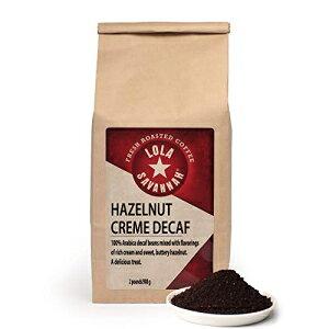 LolaSavannahヘーゼルナッツクリーム挽いたコーヒー-ヘーゼルナッツの甘いバターのエッセンスで味付けされたアラビカ豆  カフェイン抜き  2ポンドバッグ Lola Savannah Hazelnut Creme Ground Coffee - Arabi