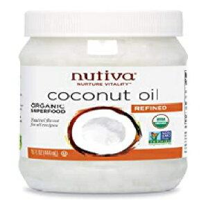 Nutivaオーガニック、ニュートラルテイスティング、非GMOのスチーム精製ココナッツオイル、持続可能な養殖ココナッツ、15オンス 15 Fl Oz (Pack of 1), Nutiva Organic Steam-Refined Coconut Oil, 15 Fluid Ounce