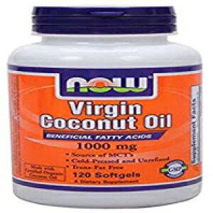 120カウント、今サプリメント、バージンココナッツオイル1000 mg、コールドプレスおよび未精製、120ソフトジェル NOW Foods 120 Count, NOW Supplements, Virgin Coconut Oil 1000 mg, Cold Pressed and Unrefined, 120 Softge