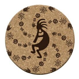 サースティストーンココペトログリフコルクコースターセット Thirstystone Koko Petroglyphs Cork Coaster Set