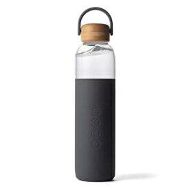 Soma BPA-シリコンスリーブ付きフリーガラスウォーターボトル、グレー、25オンス Soma BPA-Free Glass Water Bottle with Silicone Sleeve, Gray, 25oz
