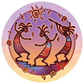サースティストーンストーンウェアコースターセット、ココペリダンス Thirstystone Stoneware Coaster Set, Kokopelli Dance