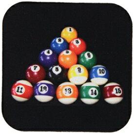 3dRose CST_3317_2ビリヤードボールプールコースター、ソフト、8個セット 3dRose CST_3317_2 Billiards Balls Pool Coaster, Soft, Set of 8