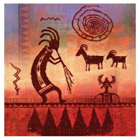 サースティストーン4ピースココペリペトログリフコースターセット Thirstystone 4-Piece Kokopelli Petroglyph Coaster Set