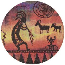サースティストーンストーンウェアココペリペトログリフコースター、マルチカラー Thirstystone Stoneware Kokopelli Petroglyph Coaster, Multicolor