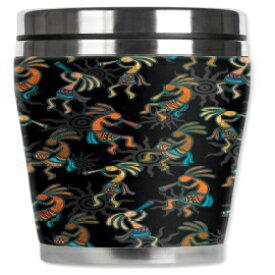 Mugzie Kokopelliトラベルマグ、断熱ウェットスーツカバー付き、16オンス、ブラック Mugzie Kokopelli Travel Mug with Insulated Wetsuit Cover, 16 oz, Black
