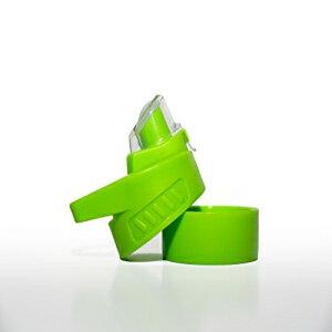 インフュージョンプロプレミアムフルーツインフューザーウォーターボトル-シリコンシールで蓋を交換する上と下のネジ-黒、緑、白、ティール、ピンク(緑) Infusion Pro Premium Fruit Infuser Water