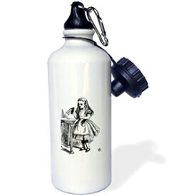 3dRose wb_193796_1 Who are you- Who are you - Smoking Caterpillar quote from Alice in Wonderland Sports Water Bottle, 21 oz, Multicolored