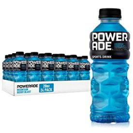 パワーエイド、ビタミンを含む電解質強化スポーツドリンク、マウンテンベリーブラスト、20液量オンス、24パック POWERADE, Electrolyte Enhanced Sports Drinks w/ vitamins, Mountain Berry Blast, 20 fl oz, 24 Pack