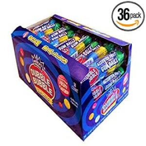 ダブルバブルガムボール、各種フルーツフレーバー、36〜.65オンスチューブ Dubble Bubble Gum Balls, Assorted Fruit Flavor, 36 - .65oz tubes