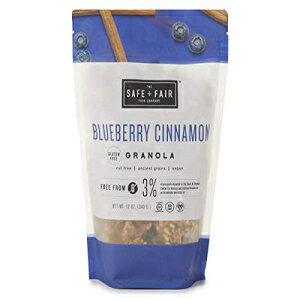 セーフ+フェアブルーベリーシナモングラノーラ、グルテンフリー、ナッツフリー、ビーガン The Safe + Fair Food Company Safe + Fair Blueberry Cinnamon Granola, Gluten Free, Nut Free, Vegan