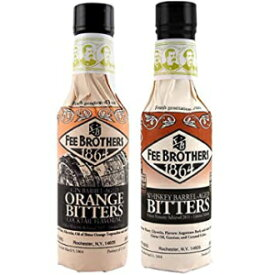 2、フィーブラザーズリミテッドランビターズ2パック-ジンバレル-熟成オレンジ&ウイスキーバレル-熟成アロマティックビターズ-5オンス 2, Fee Brothers Limited Run Bitters 2 Pack - Gin Barrel-Aged Orange & Whiskey Barrel-Aged Aromatic Bitters -