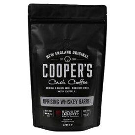 シングルモルトウイスキー樽熟成コーヒー-スタウトウイスキー樽で熟成させたシングルオリジンスマトラコーヒー豆-蜂起-12オンスバッグ、ホールコーヒー豆 Cooper's Cask Coffee Single-Malt Whiskey Barrel Aged Coffee - Single Origin Sumatra Coffee Beans