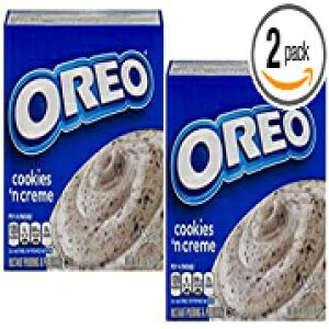 Jell-Oインスタントプリン&パイフィリングオレオクッキー 'Nクリームとクッキーピース、4.2オンス(2パック) Jell-O Instant Pudding & Pie Filling Oreo Cookies 'N Cream with Cookie Pieces, 4.2 Oz (Pack of 2)