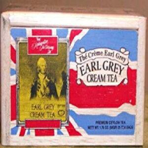 アールグレイクリームティー、新鮮さのために木製の箱に密封された25個のティーバッグ Metropolitan Tea Earl Grey Cream Tea, 25 Tea Bags Sealed in a Wooden Box for Freshness