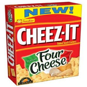 サンシャイン、チーズ-焼きスナッククラッカー、イタリアンフォーチーズ、12.4オンスボックス(4パック) Sunshine, Cheez-It Baked Snack Crackers, Italian Four Cheese, 12.4oz Box (Pack of 4)