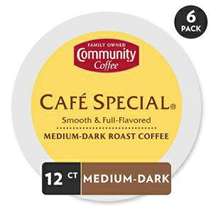 コミュニティコーヒーカフェスペシャルミディアムダークローストシングルサーブ、キューリグ2.0 Kカップブリューワーと互換性、フルボディスムースフルフレーバー、100%アラビカコーヒ