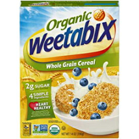 14 Ounce (Pack of 1), Organic Whole Grain, Weetabix Organic Whole Grain Cereal Biscuits, USDA Certified Organic, Non-GMO Project Verified, Heart Healthy, Kosher, Vegan, 14 Oz Box