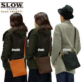 スロウ SLOW bono ショルダーバッグ 革 かばん 鞄 栃木レザー使用 49s207i メンズ レディース 2019AW