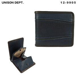 ユニゾンデプト unisondept AI(藍) 財布・サイフ 藍染 革 レザー 12-9905  【返品送料無料】
